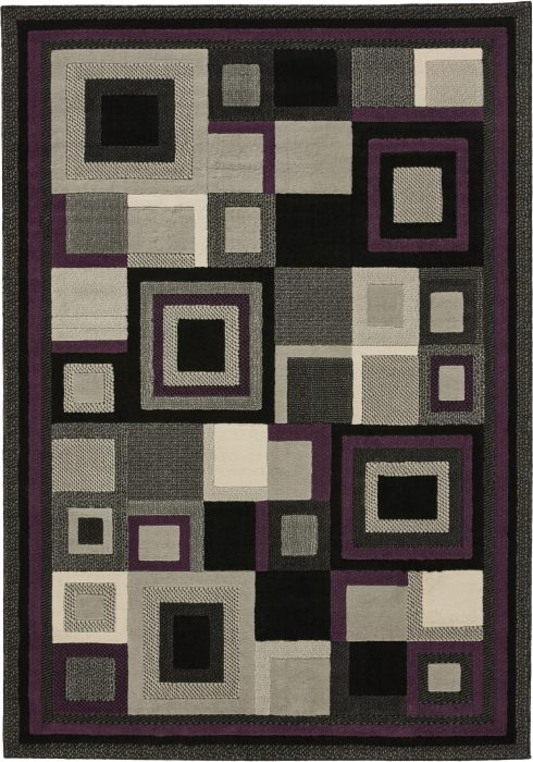 Hudson 3222 Black Purple _2 Rug