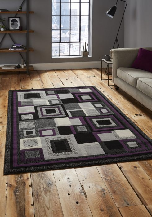 Hudson 3222 Black Purple _9 Rug