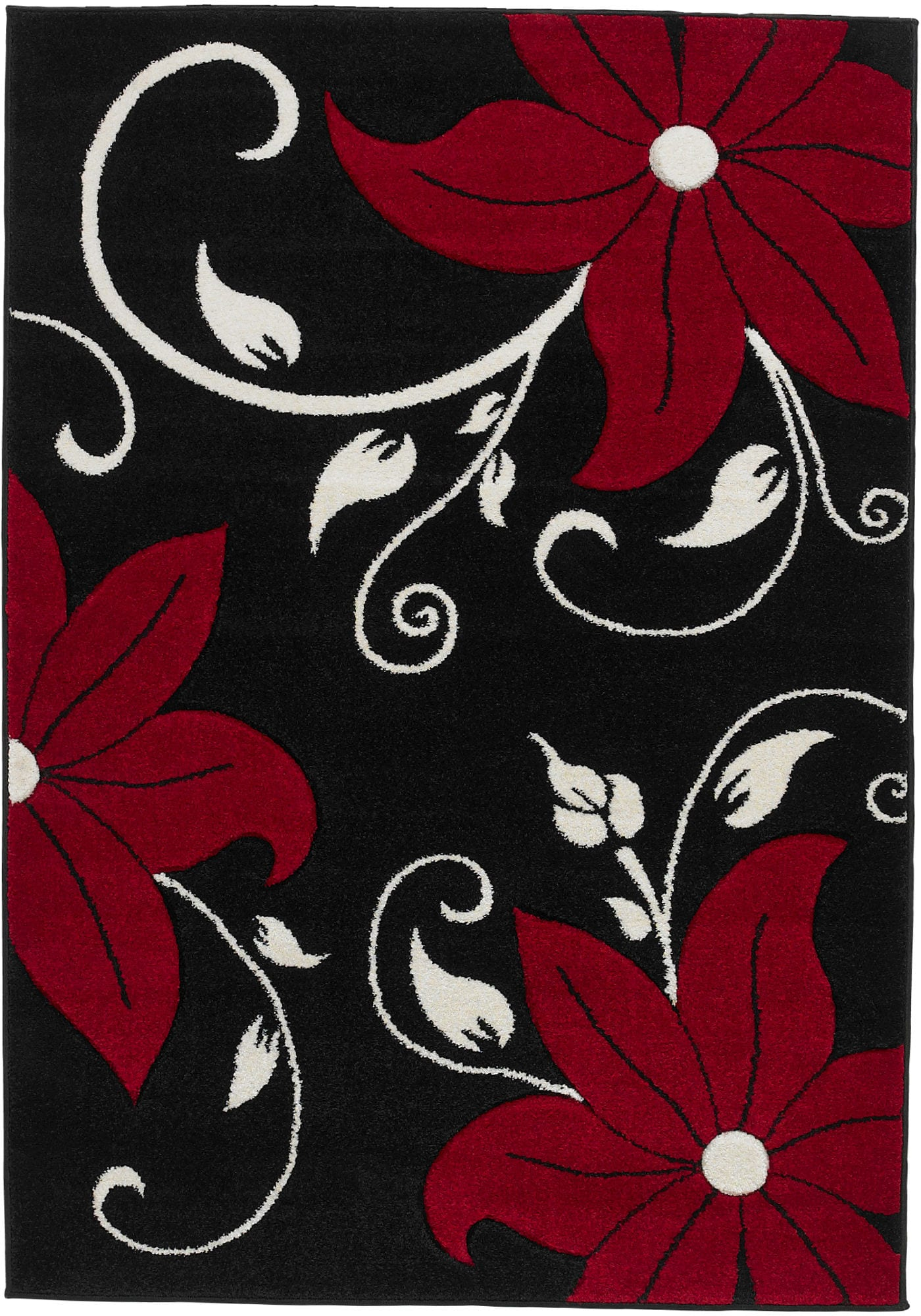 Rug Colour Oc15 Black Red By Think Rugs