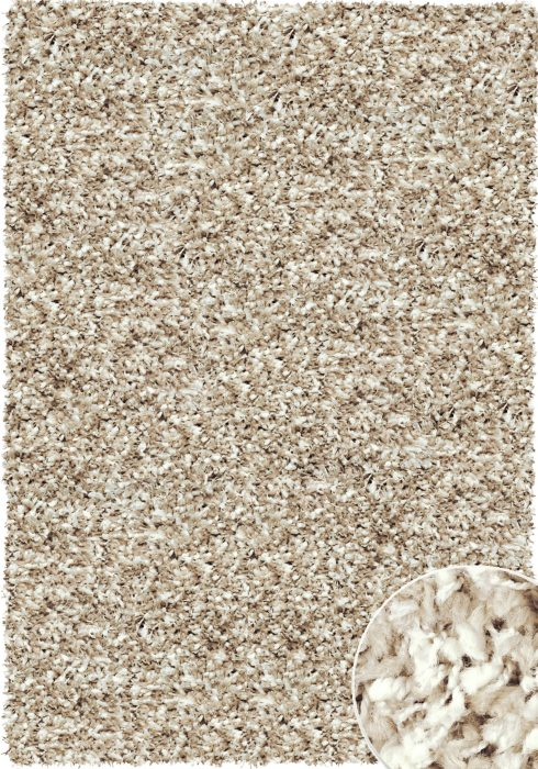 Twilight Rug by Mastercraft Rugs in White/Linen Color; made with a superbly finished quality woven shaggy