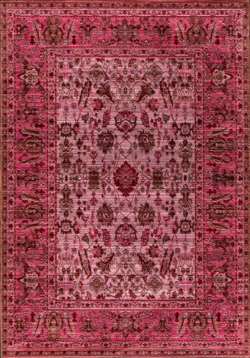 Aqua Silk e309c brown-fuchsia Rug