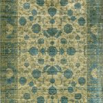 Aqua Silk Rug by Mastercraft Rugs in Traditional E414A Design and Dark Yellow/Blue Colour; a modern take on classic designs