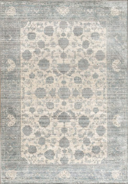 Aqua Silk e414a grey-lt.blue Rug