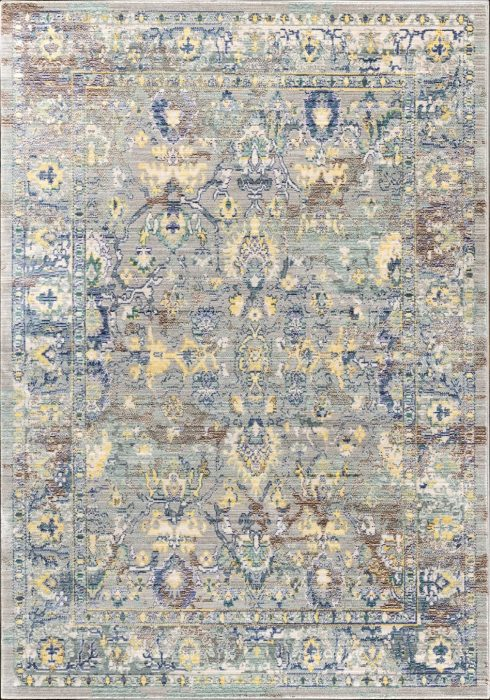 Aqua Silk Rug by Mastercraft Rugs in Grey Colour (Design N620A), made with 100% polyester with cotton backing