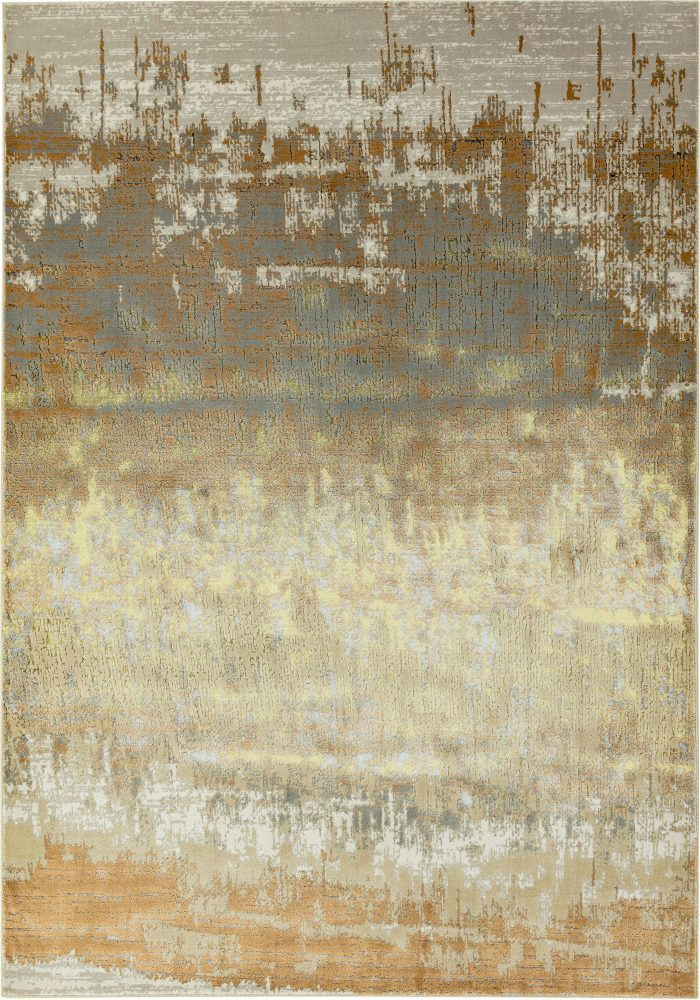 Aurora Rug by Asiatic Carpets in AU01 Dune Design; abstract & geometric metallic, and lustrous in design