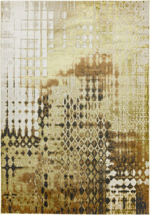 Aurora Rug by Asiatic Carpets in AU07 Diamond Design; abstract & geometric metallic, and lustrous in design