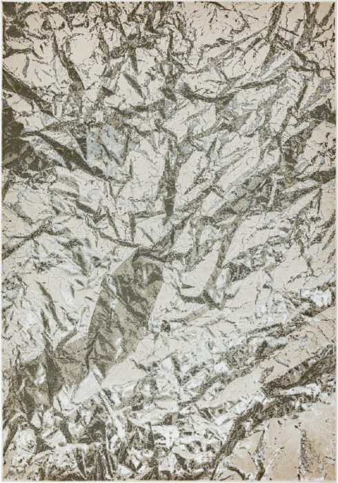 Aurora Rug by Asiatic Carpets in AU09 Satin Design; abstract & geometric metallic, and lustrous in design