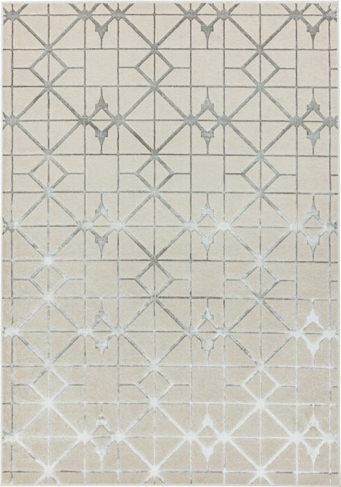 Aurora Rug by Asiatic Carpets in AU11 Lattice Design; abstract & geometric metallic, and lustrous in design