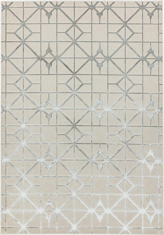Aurora Rug by Asiatic Carpets in AU11 Lattice Design; abstract & geometric metallic, and lustrous in design