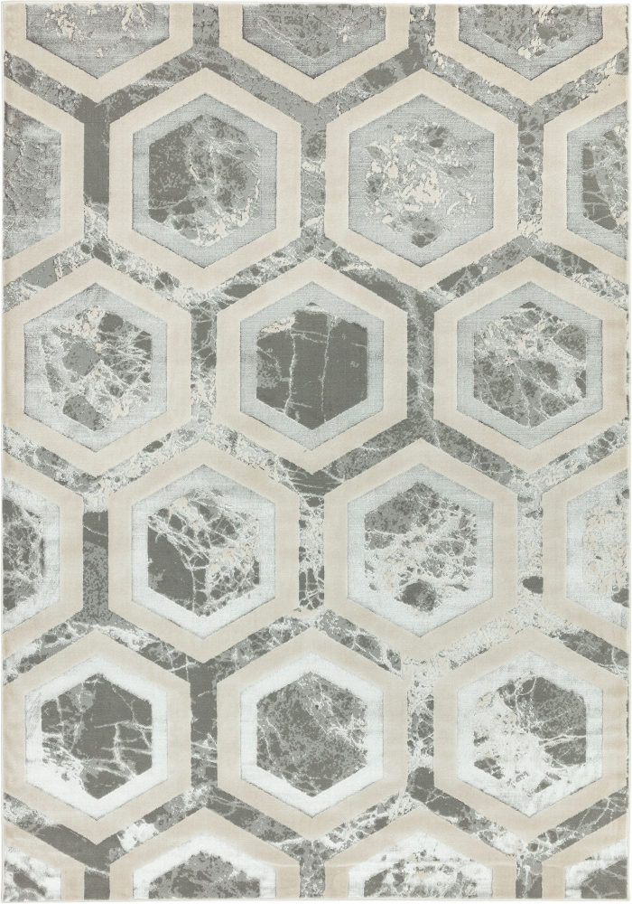 Aurora Rug by Asiatic Carpets in AU12 Crystal Design; abstract & geometric metallic, and lustrous in design