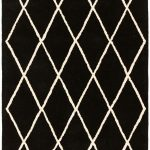 Albany Diamond Black Rug