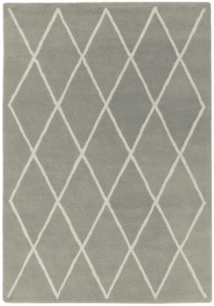 Albany Rug by Asiatic Carpets in Diamond Silver Design; an eye-catching, decorative geometric rug made from 100% wool