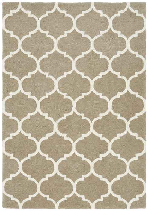 Albany Rug by Asiatic Carpets in Ogee Camel Design; an eye-catching, decorative geometric rug; made from 100% wool