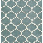 Albany Rug by Asiatic Carpets in Ogee Duck Egg Design; an eye-catching, decorative geometric rug; made from 100% wool