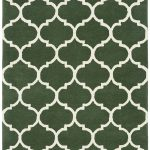 Albany Rug by Asiatic Carpets in Ogee Green Design; an eye-catching, decorative geometric rug; made from 100% wool