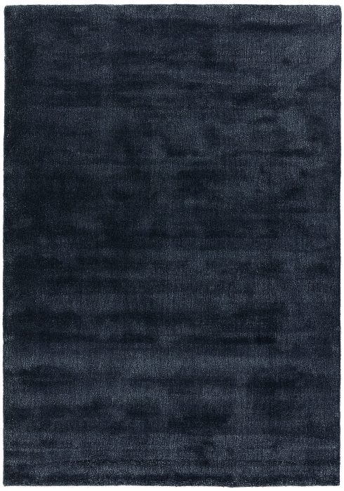 Aran Rug by Asiatic Carpets in Midnight Colour; luxuriously thick rug made with fine wool with viscose for a grand finish