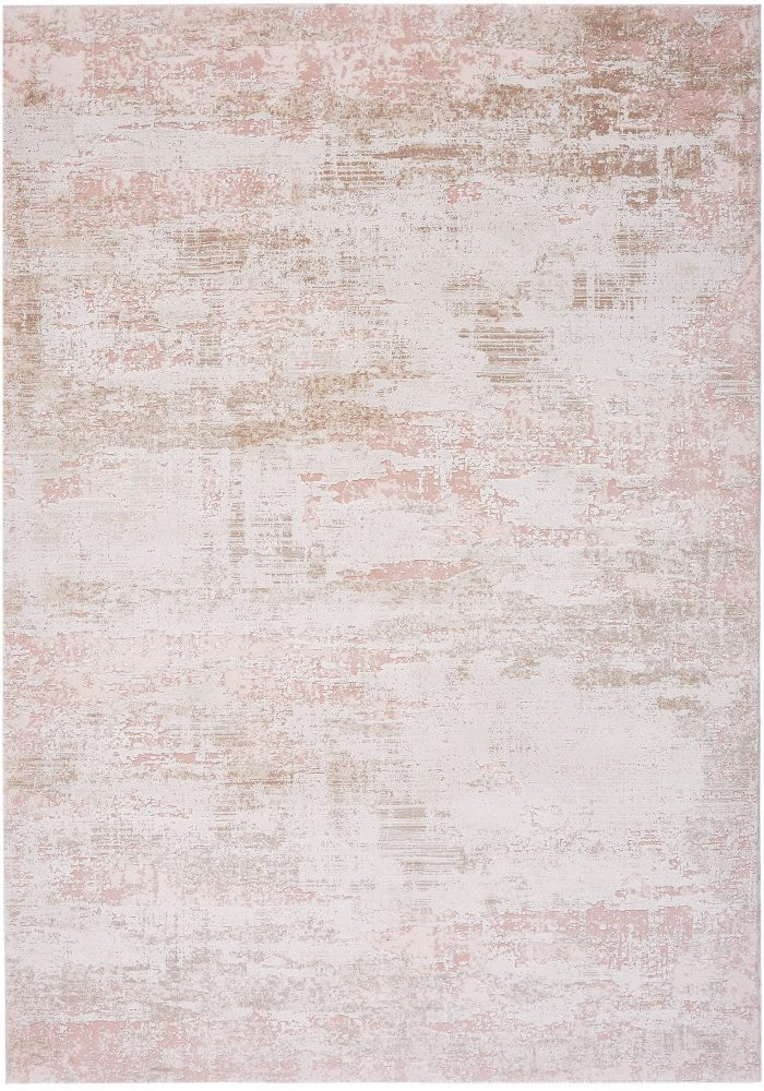 Astral Rug by Asiatic Carpets in AS02 Pink Design; sure to stand out with its distressed abstract design and subtle texture