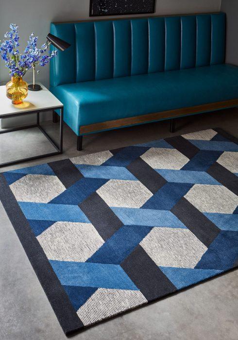 Camden Blue Rug Roomset