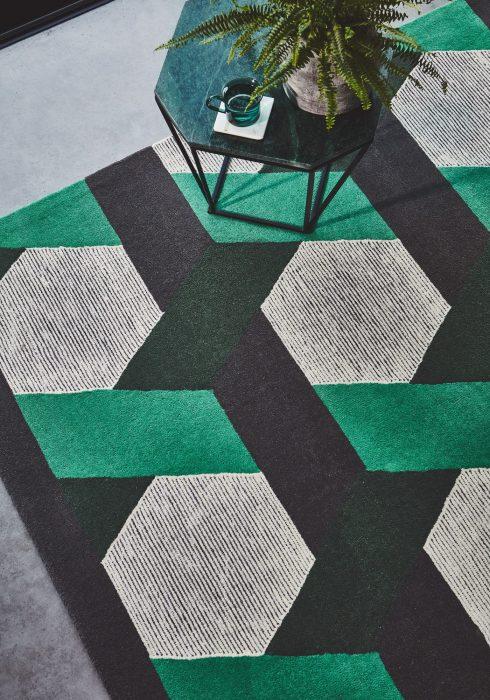 Camden Geo Green Rug Roomset