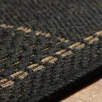 Checked Flatweave Black Rug Detail (1)