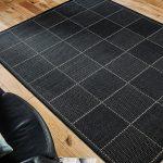 Checked Flatweave Black Roomshot Rug