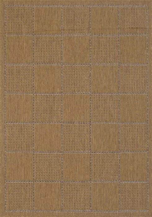 Checked Flatweave Natural Rug Overhead