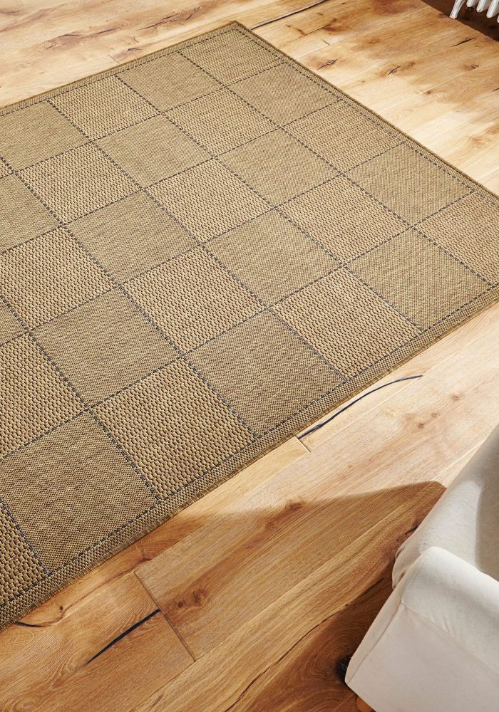 Checked Flatweave Natural Roomshot Rug