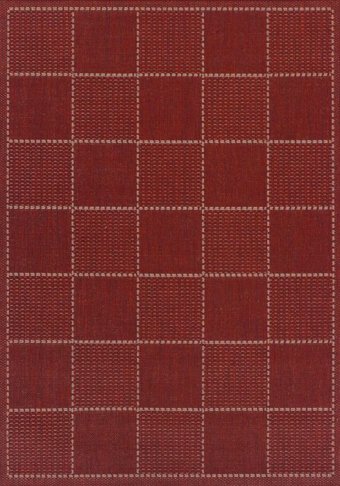Checked-Flatweave-Red-Rug-Overhead