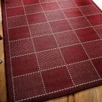 Checked-Flatweave-Red-Rug