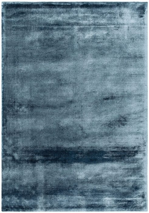 Dolce Rug by Asiatic Carpets in Blue Colour; hand-woven and hand-washed for radiance and softness for an organic feel