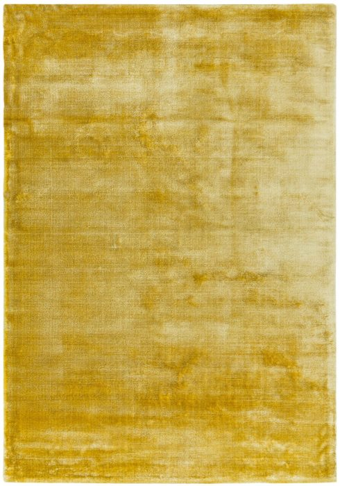 Dolce Rug by Asiatic Carpets in Yellow Colour; hand-woven and hand-washed for radiance and softness for an organic feel