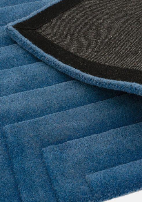 Form Blue Rug Closeup