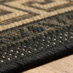 Greek Key Flatweave Black Rug Detail (1)