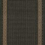 Greek Key Flatweave Rug by Oriental Weavers in Black Colour is durable and lasting and has an anti-slip gel backing