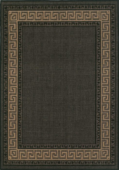 Greek Key Flatweave Rug by Oriental Weavers in Black Colour is durable and lasting and has an anti-slip gel backing