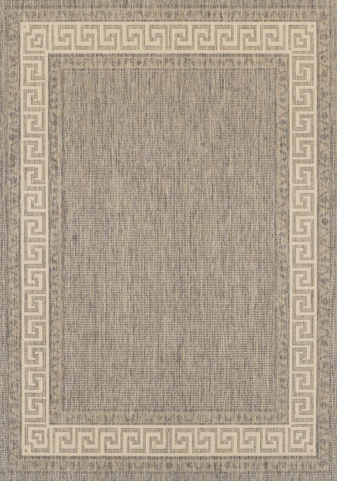 Greek Key Flatweave Rug by Oriental Weavers in Grey Colour is durable and lasting and has an anti-slip gel backing