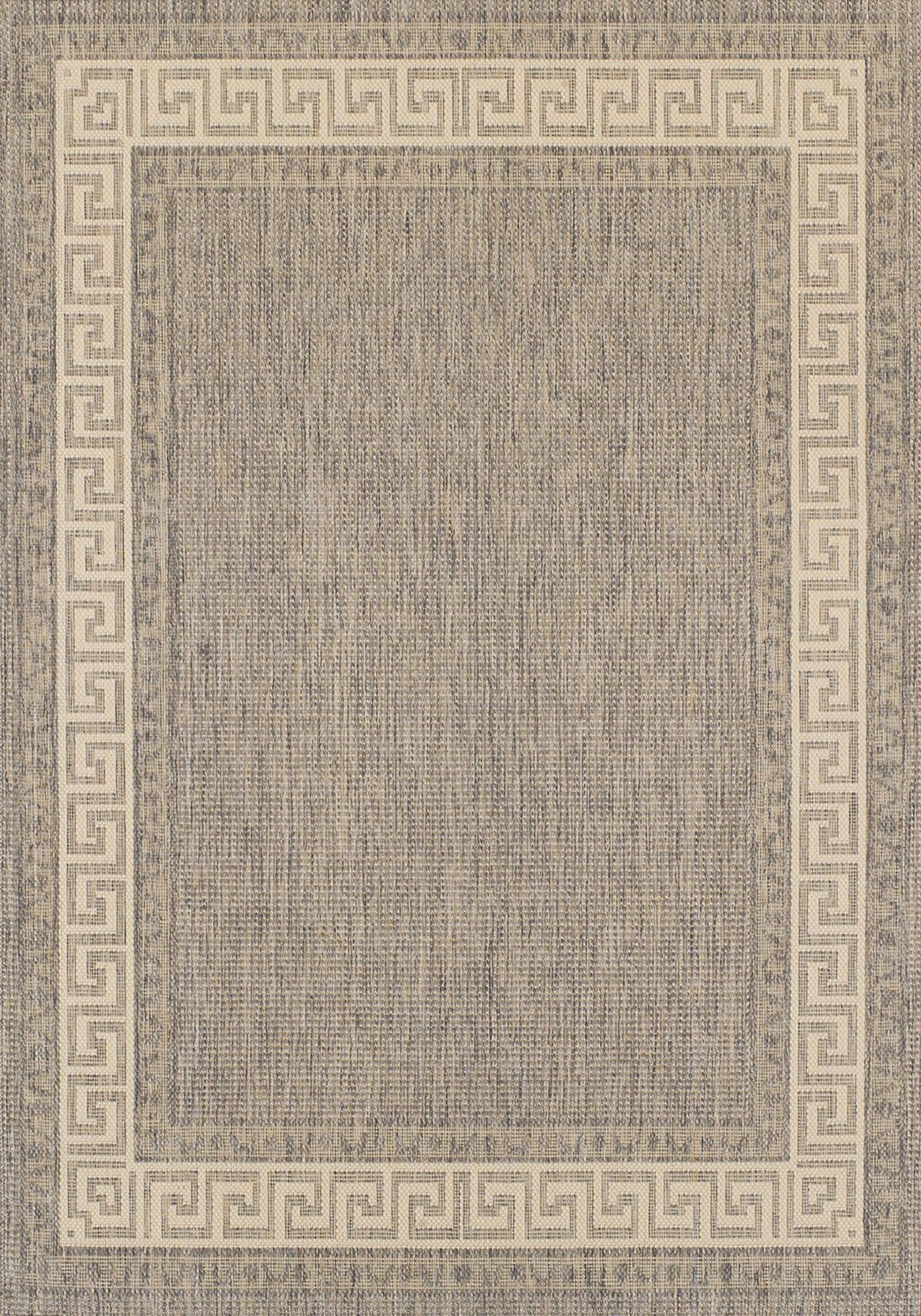 Greek Key Flatweave Rug By Oriental Weavers Colour Grey