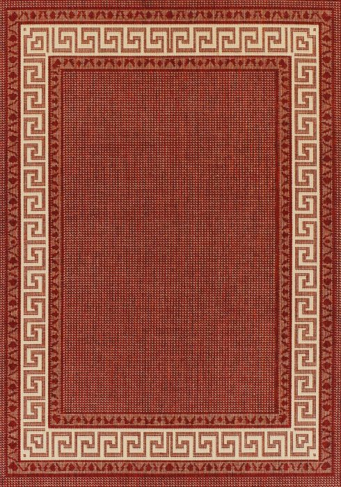 Greek Key Flatweave Rug by Oriental Weavers in Red Colour is durable and lasting and has an anti-slip gel backing
