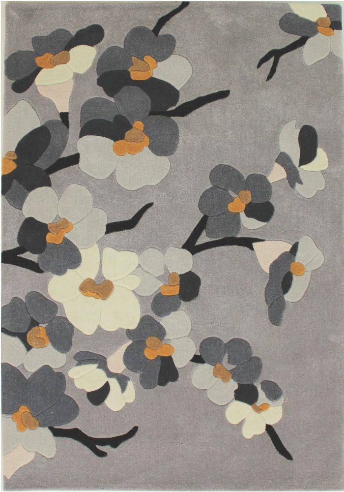 Infinite Blossom Grey Ochre Rug