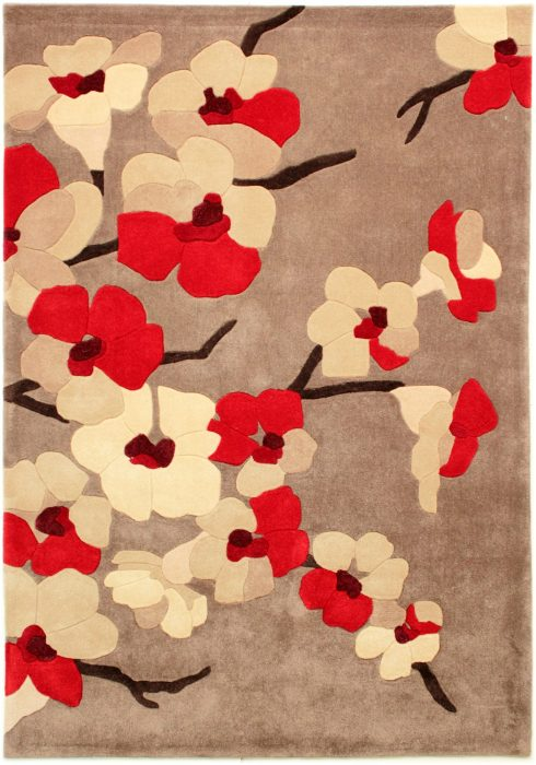 Infinite Blossom Red Rug