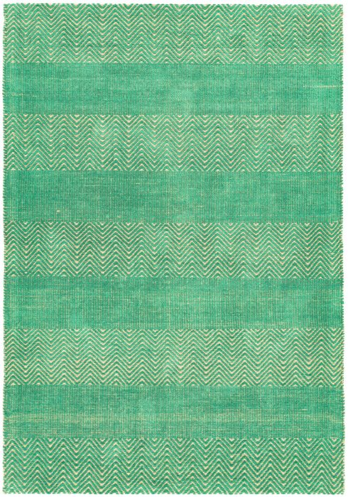 Ives Rug by Asiatic Carpets in Green Colour has a classic herringbone pattern made cotton chenille and jute