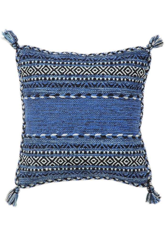 Kelim Cushion Covers by Oriental Weavers in Blue Colour; made in warm natural tones and are great for casual and formal rooms