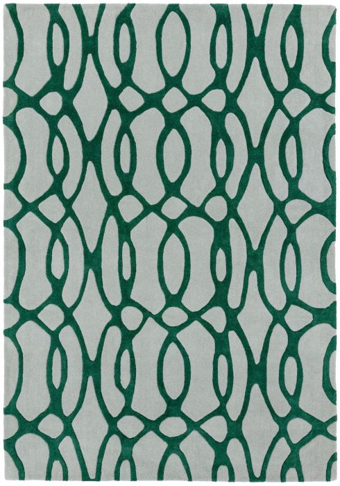 Matrix Rug by Asiatic Carpets in MAX38 Wire Green Design; contemporary wool hand-tufted design Matrix rug