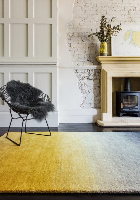 Ombre Mustard Rug Roomset
