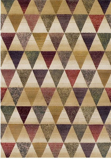 Apollo Rug by Oriental Weavers in 8122Y Design has unique space dye yarn, fusing traditional colours with modern patterns