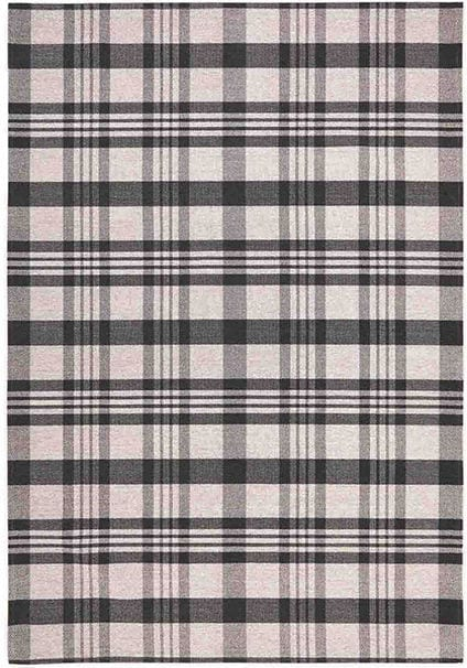Cottage Flatweave Rug by Oriental Weavers in 10 K Black/Grey Check Design; perfect for adding a rustic country feel to home