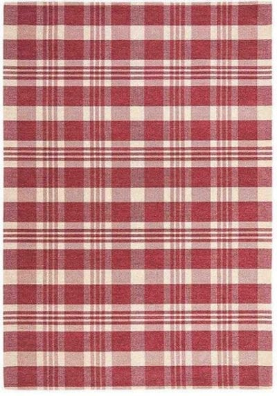 Cottage Flatweave Rug by Oriental Weavers in 21 S Red/White Check Design; perfect for adding that rustic country feel to home