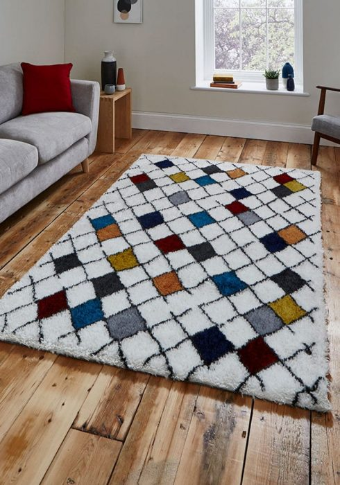 Broadway BW1408 White Rug Roomset