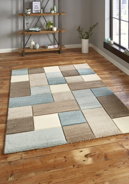 Brooklyn 646 Beige.Blue _9 Rug