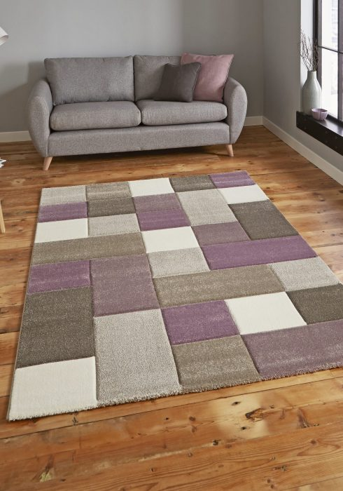 Brooklyn 646 Beige.Purple _9 Rug